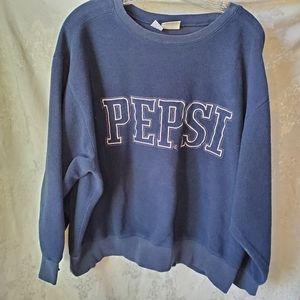 Vtg. Pepsi Sweatshirt. Inside Out Style. Sz. XL